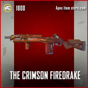 The Crimson Firedrake legendary apex legends G7 Scout skin