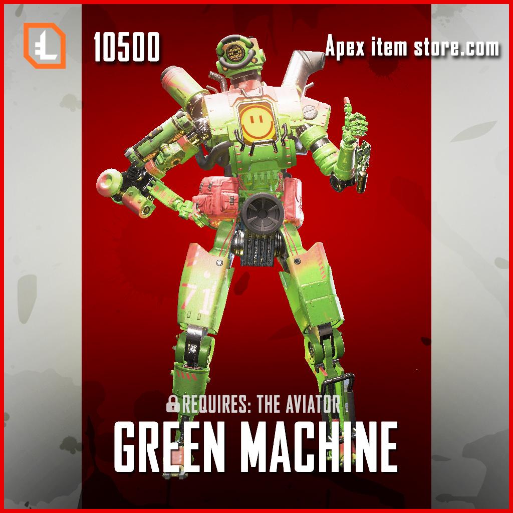 Green Machine Pathfinder legendary apex legends skin