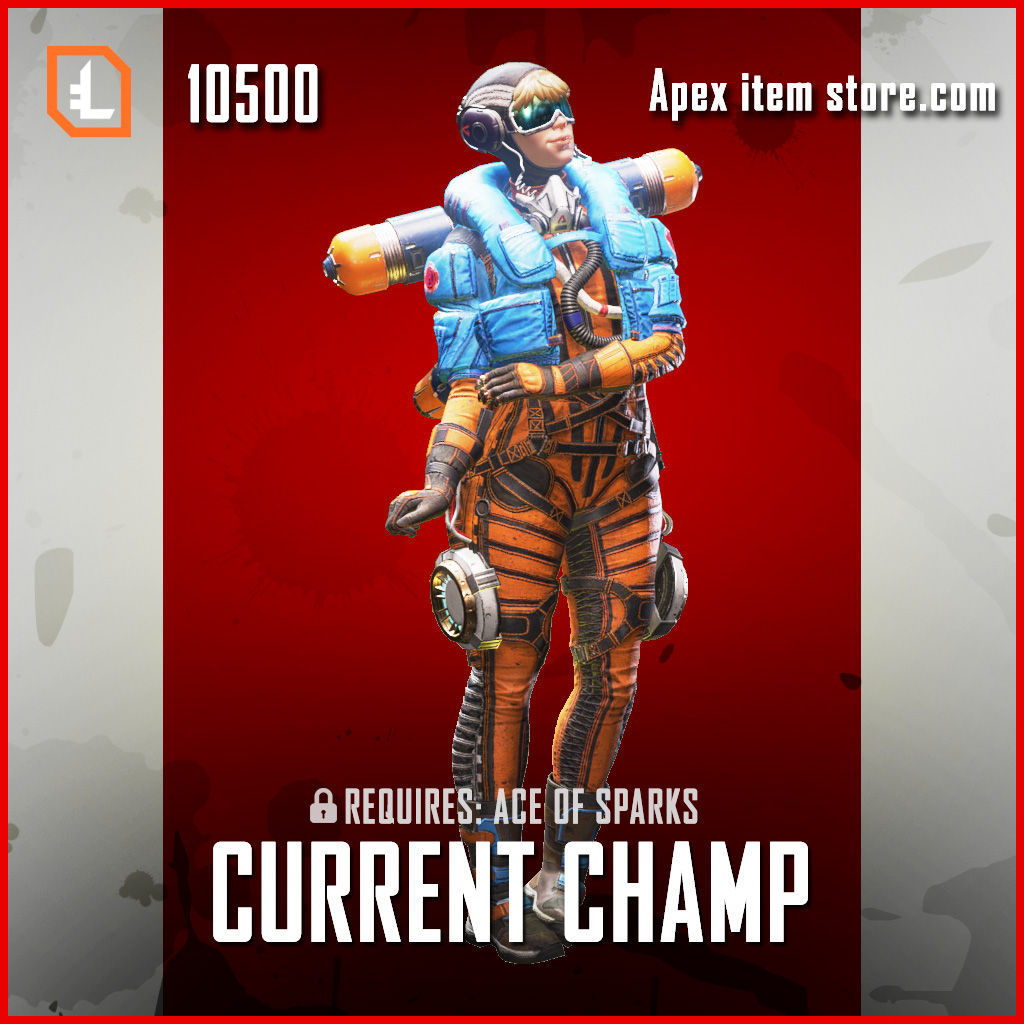 Current Champ Wattson legendary apex legends skin