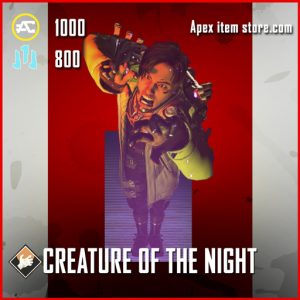 Creature of the night crypto banner pose apex legends