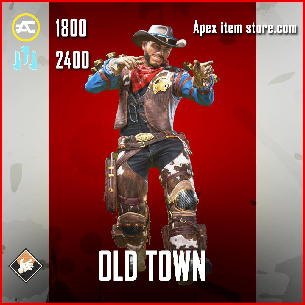 Old town mirage legendary apex legends skin