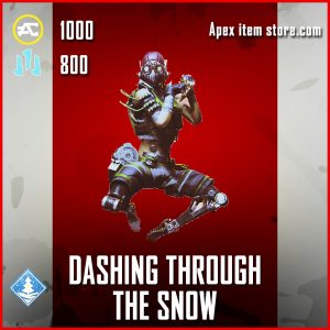 Dashing Through The Snow Octane banner pose epic apex legends