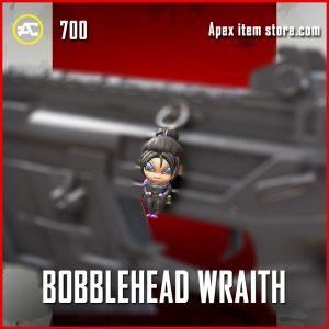 Bobblehead Wraith legendary charm apex legends