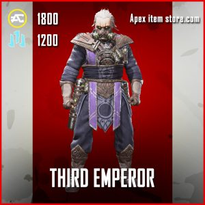 Third Emperor caustic legendary apex legends skin