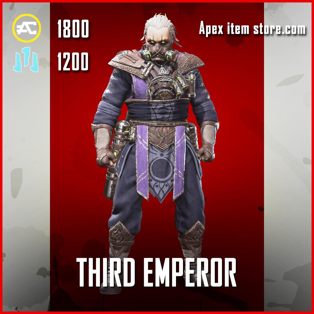 Third Emperor caustic legendary apex legends skin
