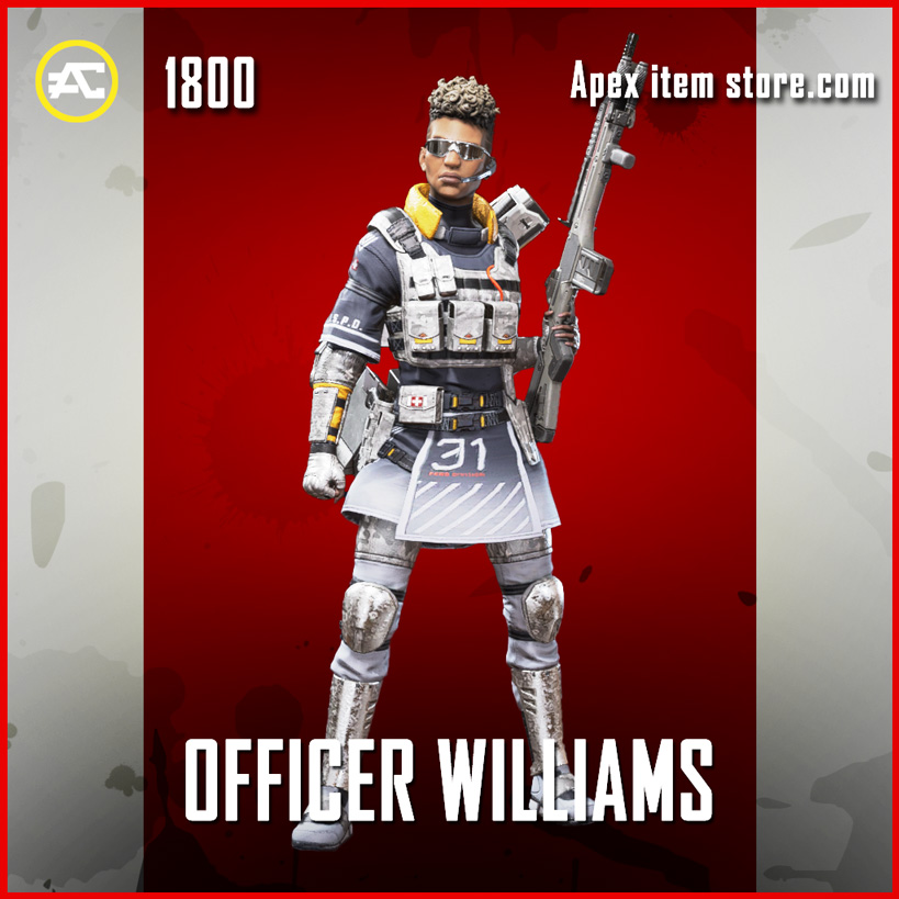 Officer Williams bangalore legendary apex legends skin