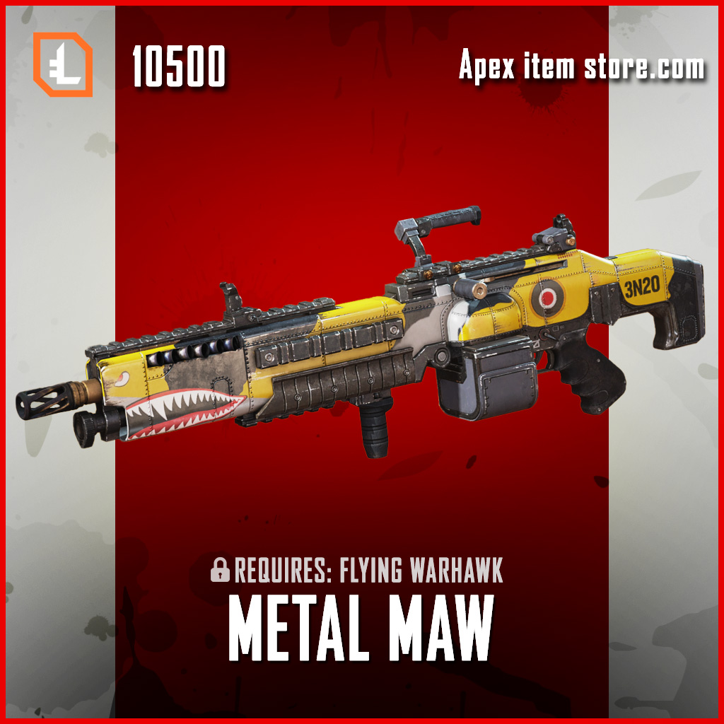 Metal Maw spitfire skin exclusive legendary apex legends skin