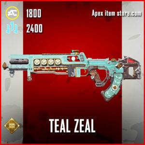 Teal Zeal Flatline skin legendary apex legends item