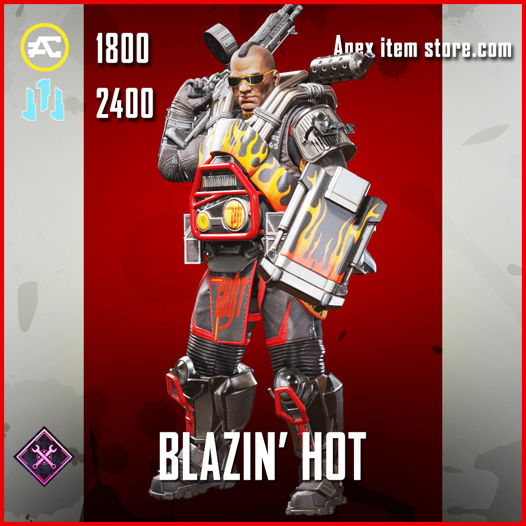 Blazin' Hot Gibraltar skin legendary Apex Legends Item
