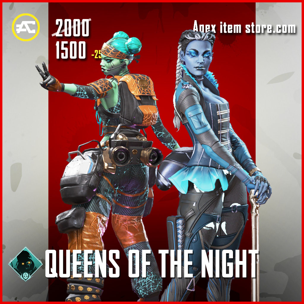 Queens of the Night bundle apex legends skin pack Fight or Fright 2020