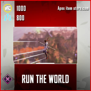 Run the world Skydive Emote Apex Legends Item