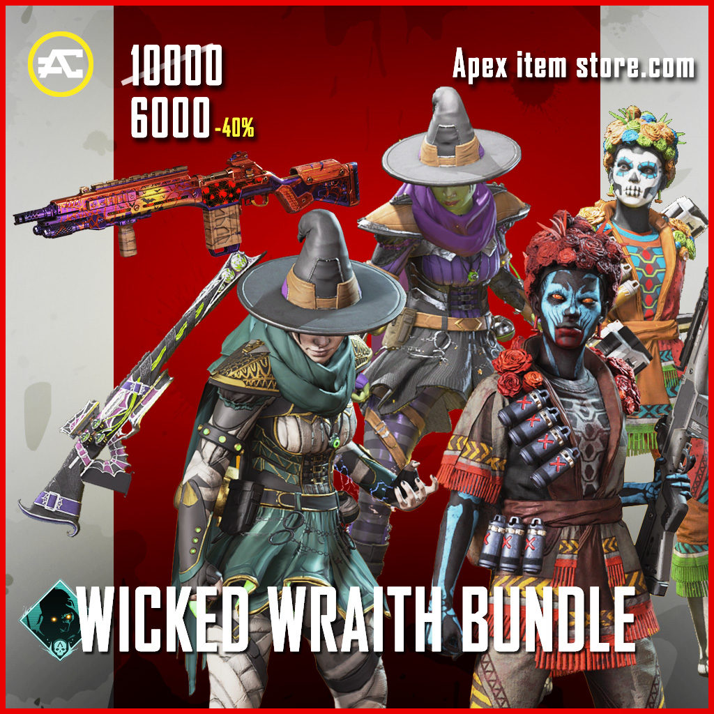 Wicked Wraith bundle apex legends skin pack Fight or Fright 2020