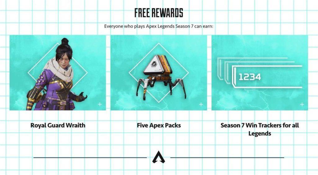 apex legends season 7 battle pass - free rewards