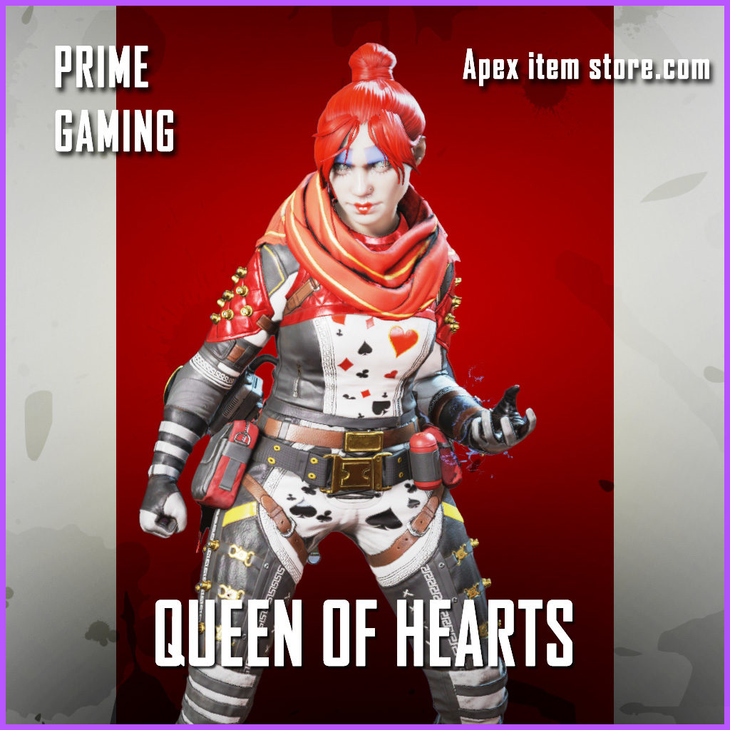 Queen of Hearts Wraith Rare Twitch Prime Gaming Apex Legends Skin