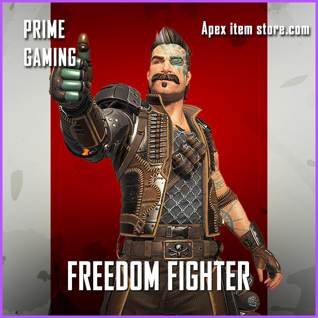 Freedom Fighter Rare Fuse Prime Gaming Apex Legends skin