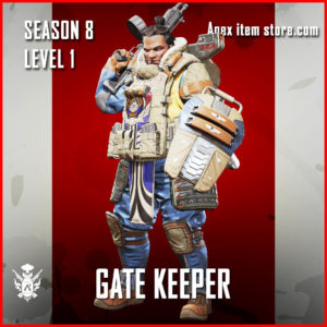 Gate Keeper Gibraltar rare Battle Pass Season 8 Skin Apex Legends