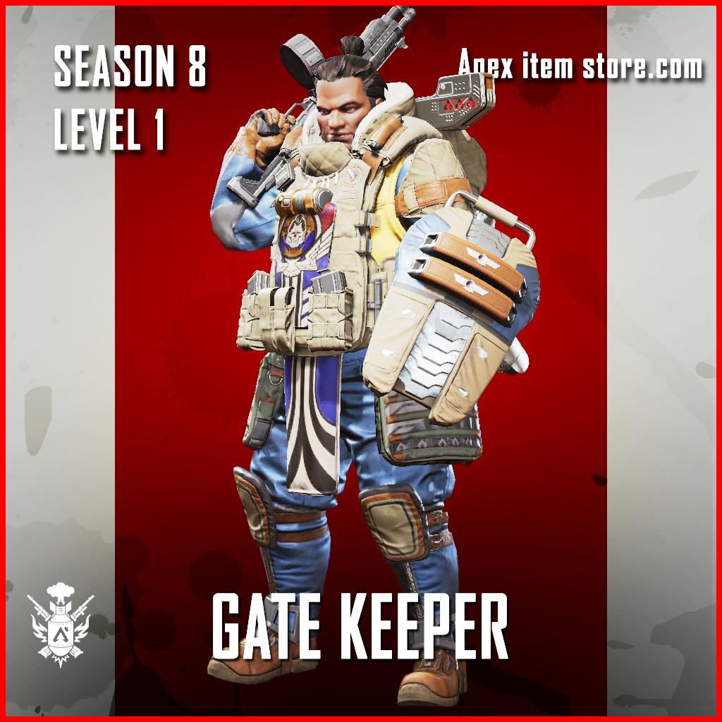 Gate Keeper Gibraltar rare Battle Pass Season 8 Skin Apex Legends