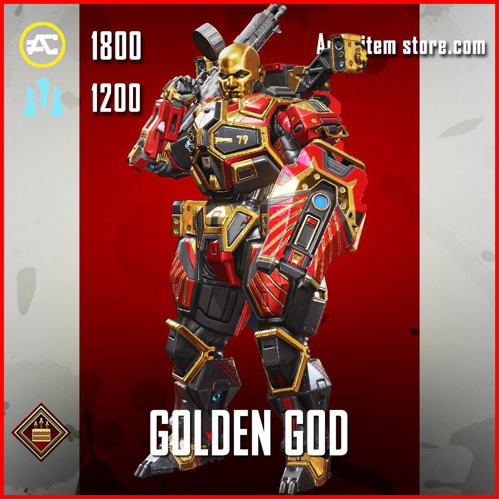 Golden God Gibraltar Apex Legends Skin Anniversary Event