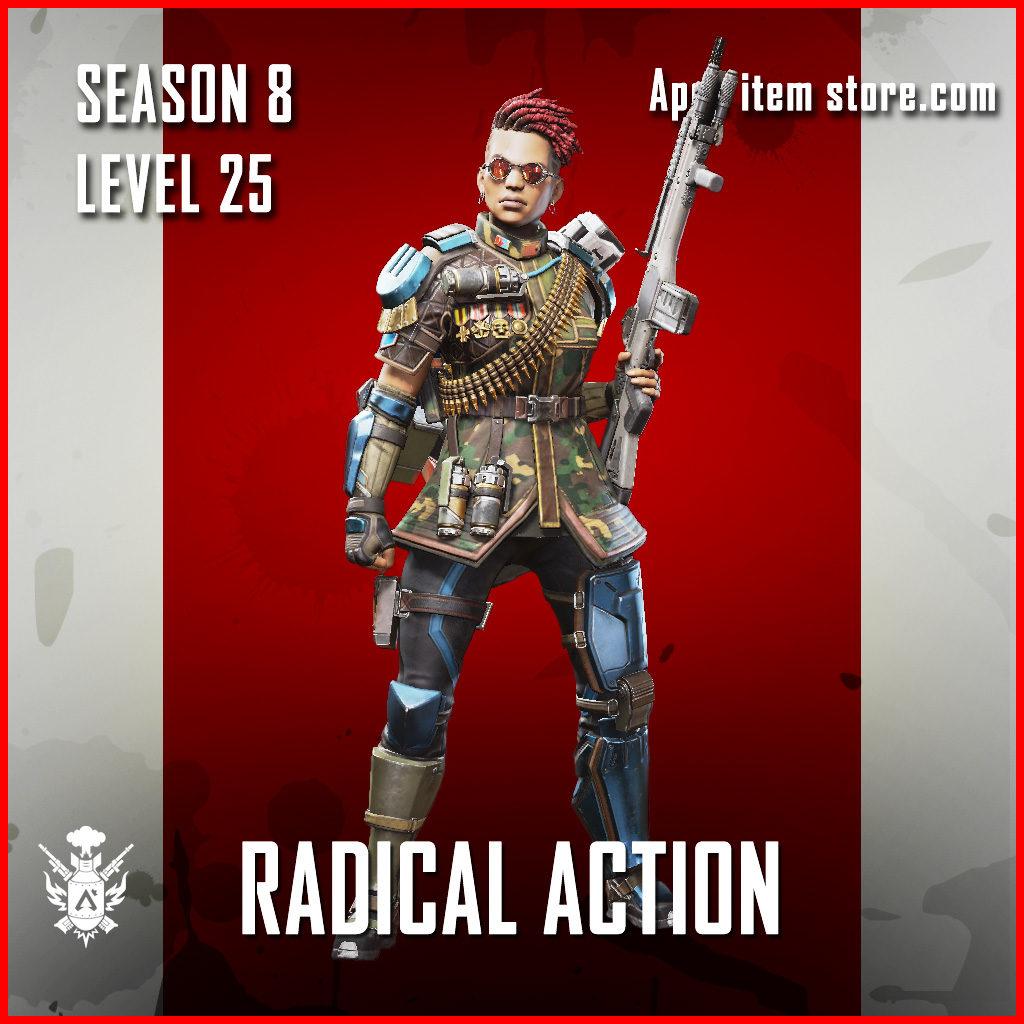 Radical Action bangalore Battle Pass Season 8 Skin Apex Legends