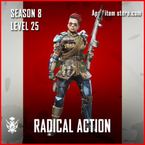 Radical Action bangalore Battle Pass Season 8 Skin Apex Legends