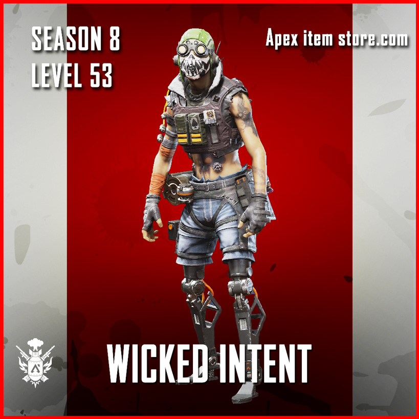 Wicked Intent Octane Battle Pass Season 8 Skin Apex Legends
