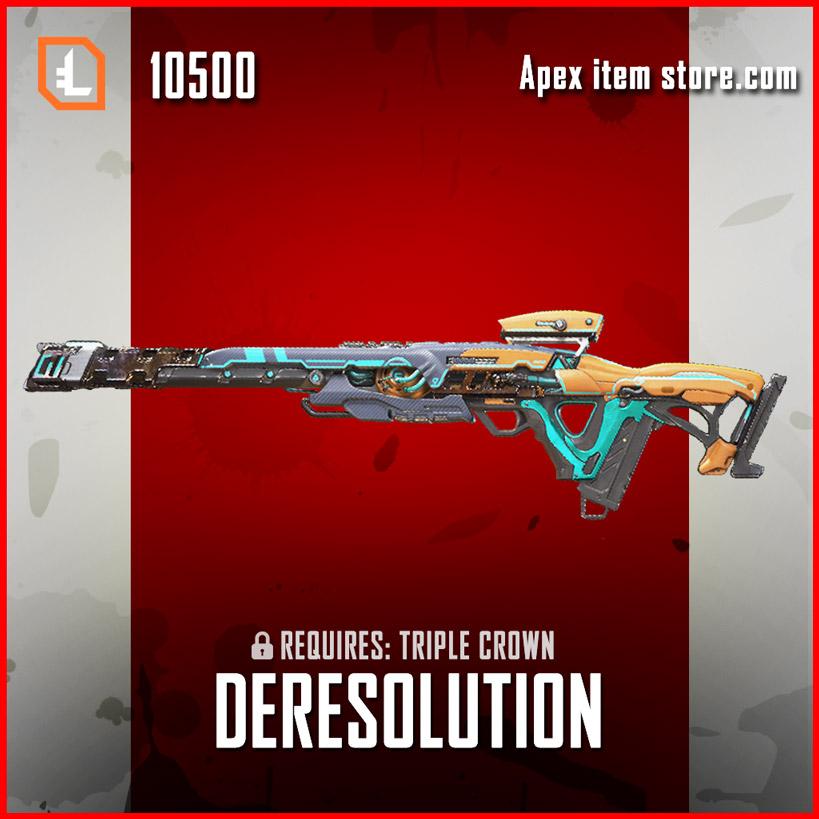 Deresolution Legendary exclusive Triple Take apex legends skin