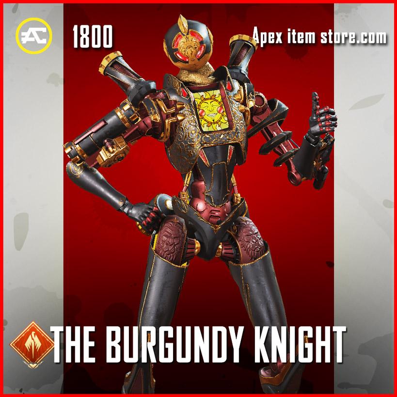 the burgundy knight pathfinder apex legends skin