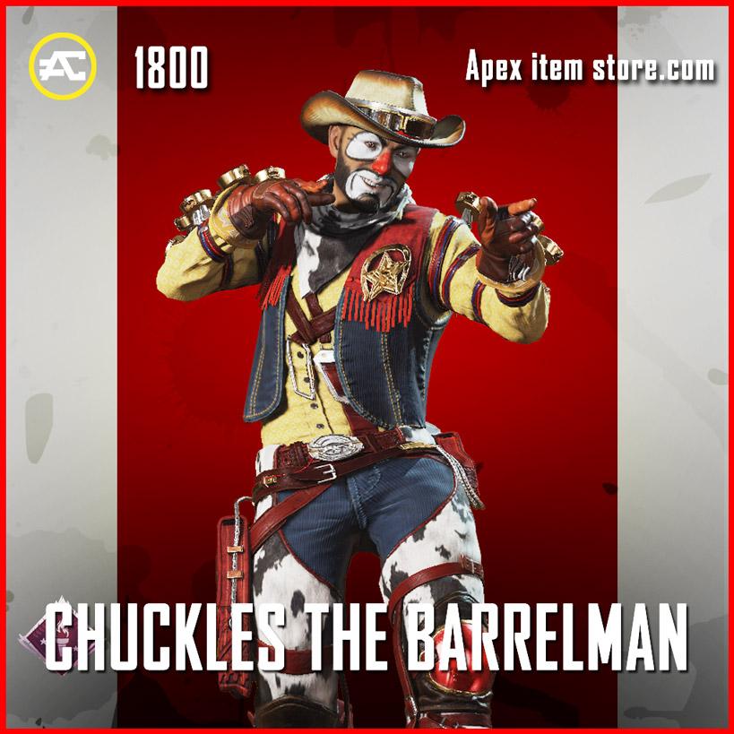 Chuckles the Barrelman Mirage Apex Legends Skin