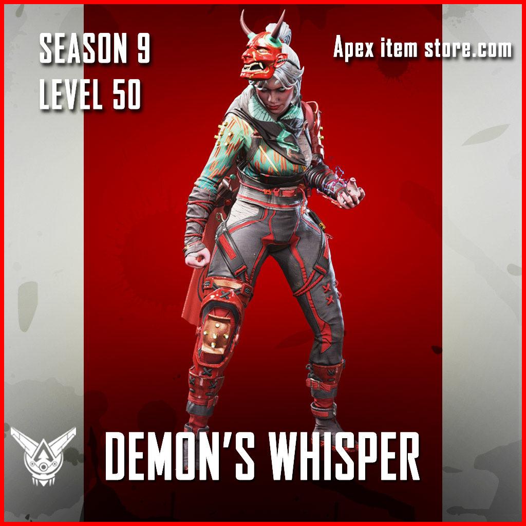 Demon's Whisper wraith legendary Battle Pass Season 9 Skin Apex Legends