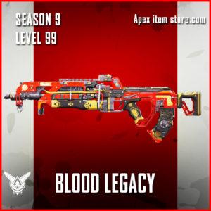 Blood Legacy epic flatline skin Apex Legends Battle Pass Season 9 Legacy Level 99