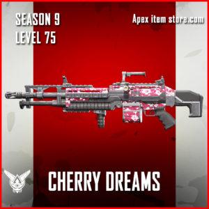 Cherry Dreams rare spitfire skin Apex Legends Battle Pass Season 9 Legacy Level 75