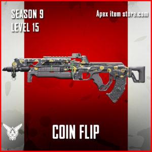 coin flip rare flatline skin Apex Legends Battle Pass Season 9 Legacy Level 15