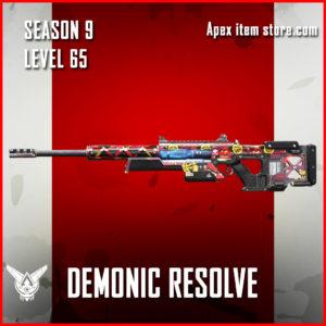 Demonic Resolve rare sentinel skin Apex Legends Season 9 Battle Pass Level 65