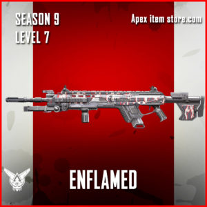 enflamed rare longbow skin Apex Legends Battle Pass Season 9 Legacy Level 7