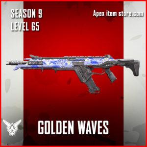 Golden Waves rare r-301 skin Apex Legends Battle Pass Season 9 Legacy Level 65