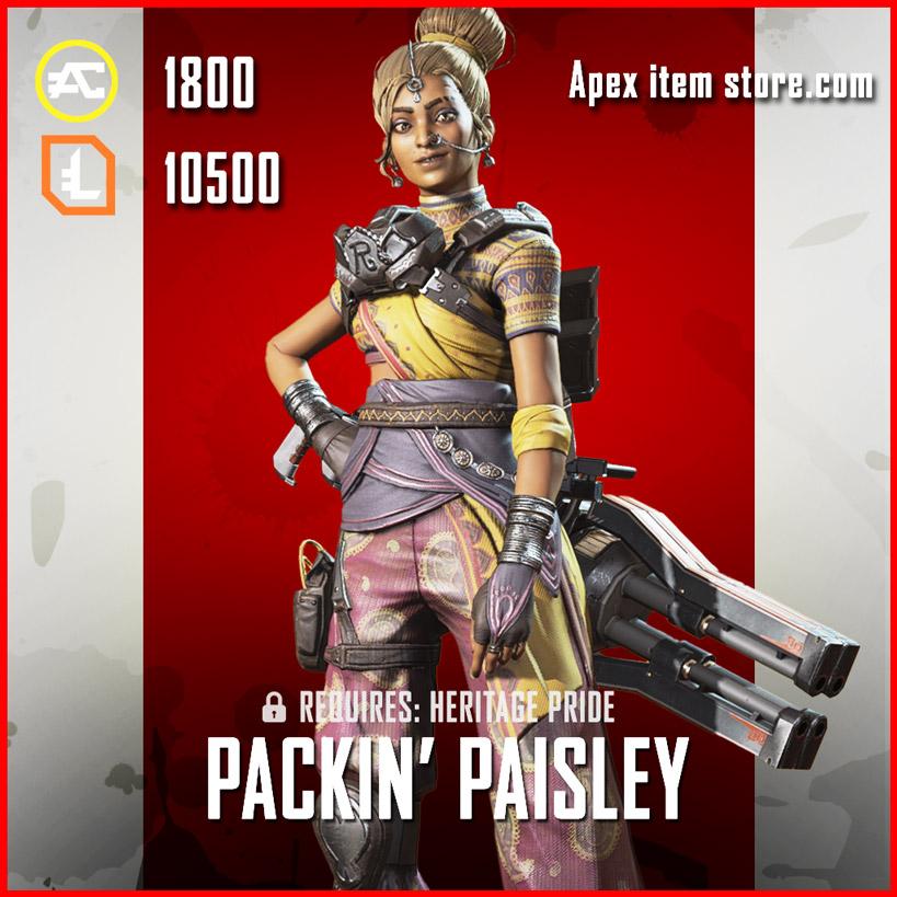 packin' paisley legendary rampart skin apex legends