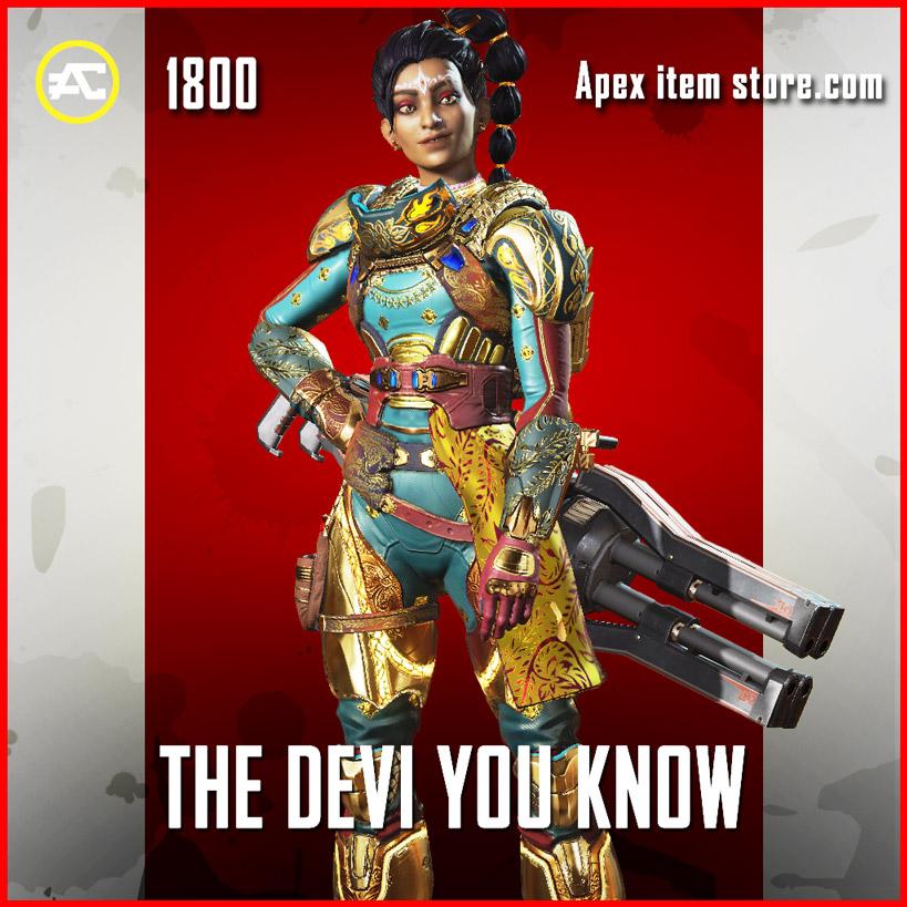 The Devi You Know Rampart Skin Apex Legends