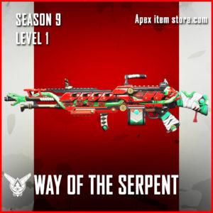 way of the serpent legendary spitfire skin Apex Legends Battle Pass Season 9 Legacy Level 1