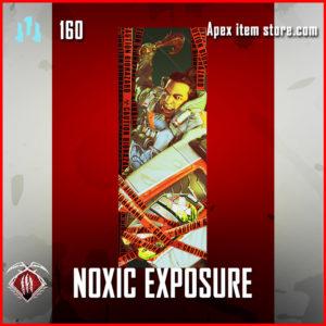 Noxic Exposure gibraltar Rare banner frame apex legends
